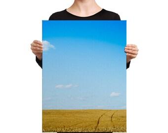 Canvas - Red Silo Original Art - Wheat Tracks