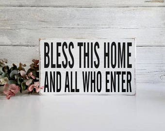Block Sign- Hand Painted Wooden Block-Farmhouse Decor- Country Decor- Wooden Blocks- Vintage Style-Distressed-Home Decor-Inspirational Quote