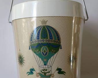 Vintage George Briard fancy free hot air balloon ice bucket
