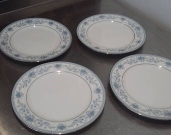 4 Noritake Blue Hill Tea Side Salad Plates
