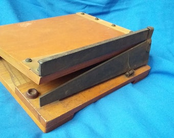 Vintage Wooden Guillotine Paper Cutter