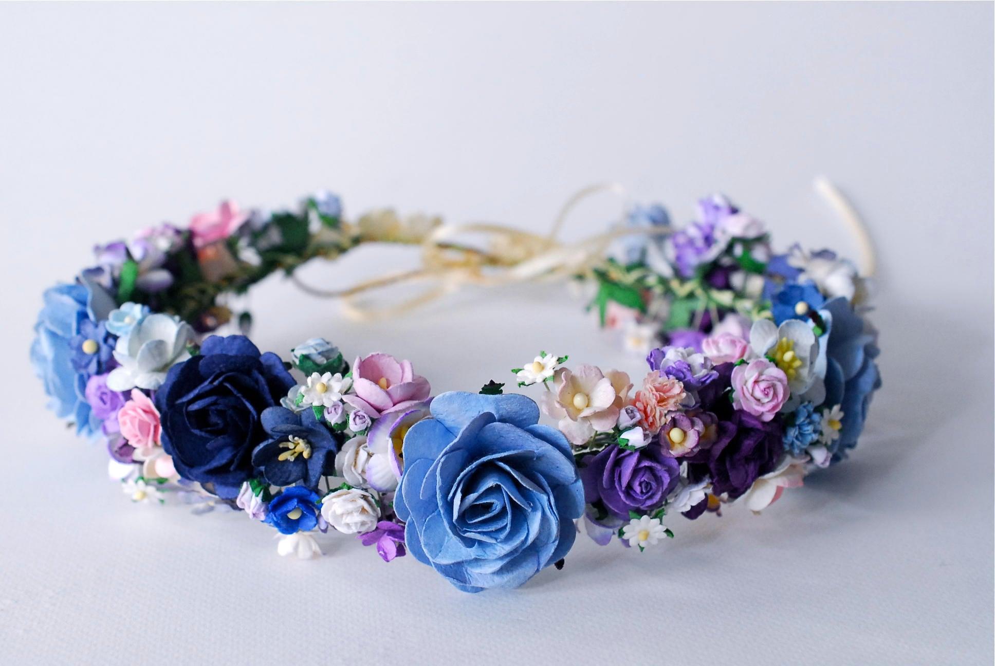 Paper flower bridal flower crown circle wild 20 cm headband paper flower bridal flower crown circle wild 20 cm headband pink izmirmasajfo