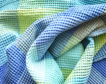 Linen bath towel- large sauna waffle towel- beach towel- gift