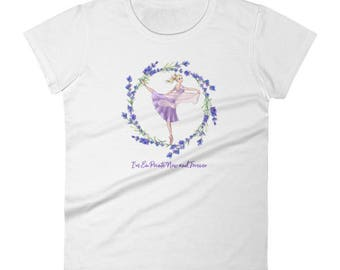 "Women's short sleeve t-shirt – ""En Pointe Now and Forever"""