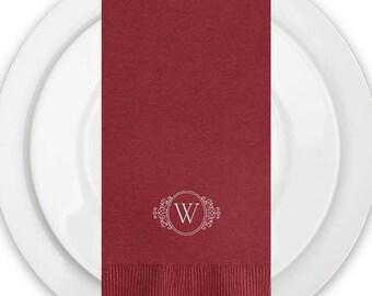 Dinner Monogram Napkins Wedding , Wine Dinner Napkins Paper, Guest Towels, Wedding Reception, Monogram Design, Add Your Monogram