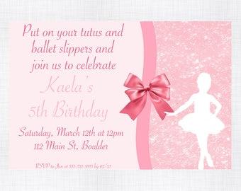 Ballerina Birthday Invitation. Ballerina Party Invitation. Ballerina Party Decorations. Ballerina 1st Birthday. Ballerina Birthday Invites