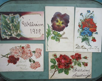 1900's Vintage Postcards  (lot of 5)