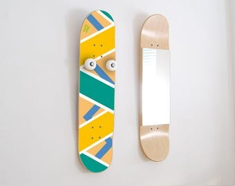 Skateboard decor, skateboard furniture, year anniversary gift for skater,  skateboard wall art -
