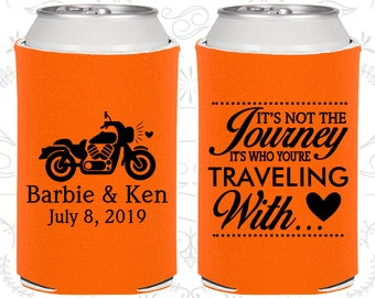 Its not the Journey, Its who your traveling with, Wedding Ideas, Motorcycle Wedding, Destination Wedding Favors, Destination Favors (C456)