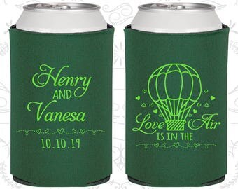 Love is in the Air Wedding Favors, Unique Wedding Favors, Hot Air Balloon Wedding, Love Wedding Favors, Wedding Can Coolers (225)