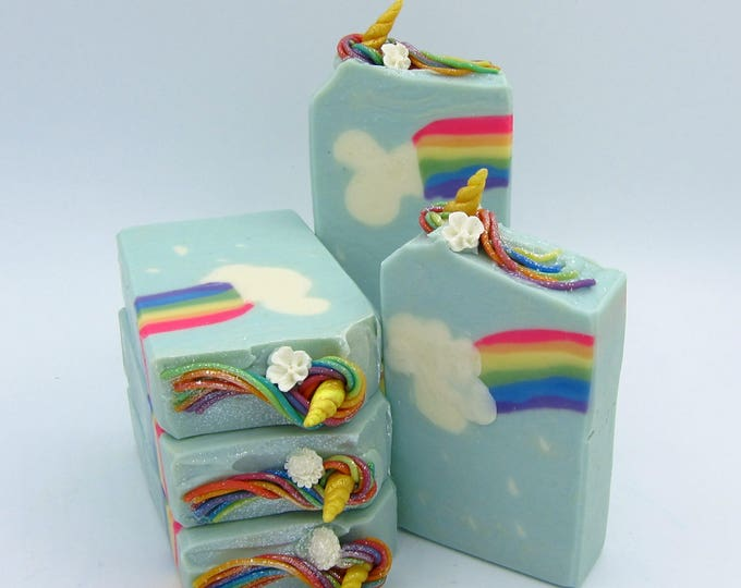 Featured listing image: Unicorns and Rainbows artisan soap
