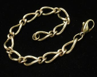 Rope Curb Link Chain Charm Bracelet
