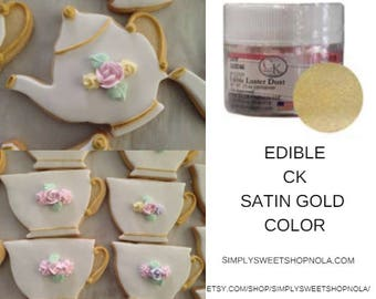 CK Edible Luster Dust Satin Gold Color.  Edible Luster Dust.  Satin Gold Color