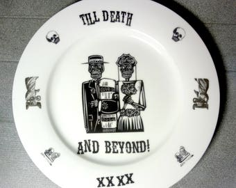 Tiil Death - and Beyond  - fine china Plate 27cm