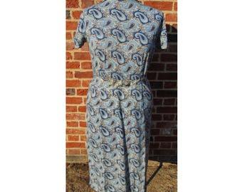 Vintage Jaeger Dress/60s Dress/Paisley Dress/Vintage Dress/Boho Dress/Psychedelic Dress/Mod Dress/Sixties Dress/1960s Dress/UK 16