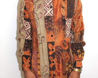 Vintage Abstract Button up Shirt