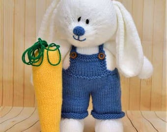 KNITTING PATTERN - The Carrot Farmer Soft Toy Knitting Pattern Download From Knitting by Post