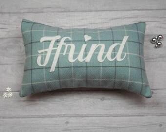 """Ffrind Cushion : 18 by 12 Inch with """"Ffrind""""  in Script Writing"""