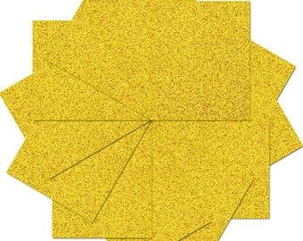 "Pre-cut Sheets Glitter Heat Transfer Vinyl - Gold - 12 Sheets - 10""x12"""