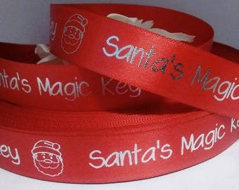 15mm x 25m Personalised, Christmas, Satin Ribbon, Gift wrapping, packaging, custom printed