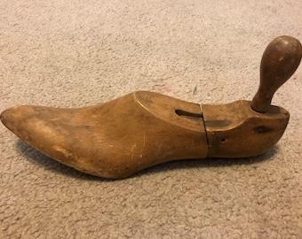 Vintage Wood shoe form