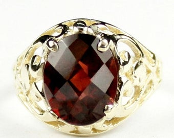 On Sale, 30% Off, Mozambique Garnet, 18KY Gold Ring, R004