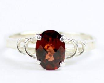 On Sale, 30% Off, Mozambique Garnet, 925 Sterling Silver Ring, SR300