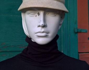 Vintage Bon Marche Structured Honey Hive Hat