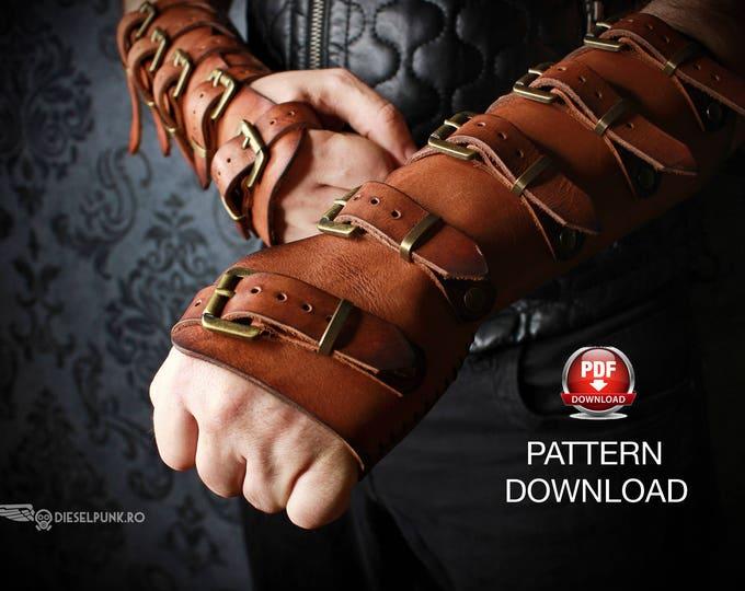 Bracers Pattern - Cosplay DIY - Pdf Download - Cosplay Bracers - Bracer templates