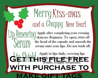 Merry Kiss-Mas and a CHappy New Year Gift Tag