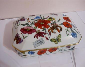 GUCCI porcelain Bernaduad Limoges large rectangular box 1970s France