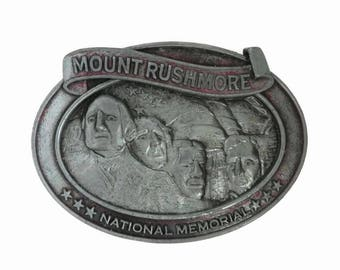 Mount Rushmore Belt Buckle - Vintage Inscribed Buckle, Men's Accessory, Collectible Buckle, Gift for Him