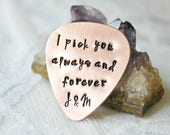Guitar Pick, Personalized Pick, Custom Pick, Gift for Men, Gift For Dad, Customized Plectrum, Music Lover, Hand Stamped Pick, Guitarist Gift
