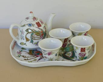 Child's Tea Set, Vintage Chinese Tea Set