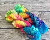 It's So Fluffy, I'm Gonna Die - Hand Dyed Superwash Merino Yarn - Sport Weight Yarn - Hand Dyed Yarn - Hand Dyed Sport Yarn