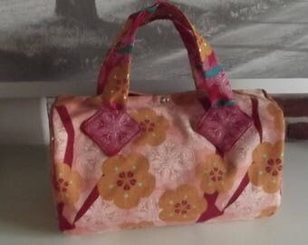 handbag handmade French coordinated candy pink and Red