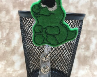 Baby Alligator felt badge reel, name badge holder, nurse badge, ID holder, badge reel, retractable badge clip, feltie badge reel