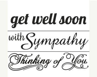 Darice® Embossing Folder Borders - Sentiments - 1.50 x 5.75 in, Thinking of you, Get well Soon, With Sympathy, greeting cards, card making