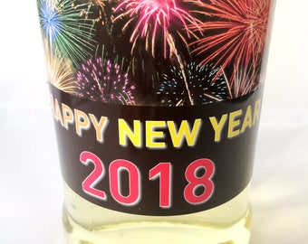 DIGITAL DOWNLOAD ONLY New Year 2018 Champagne Bottle Label