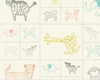 Savannah - Critters Galore Panel Multi by Gingiber for Moda, 48221 11