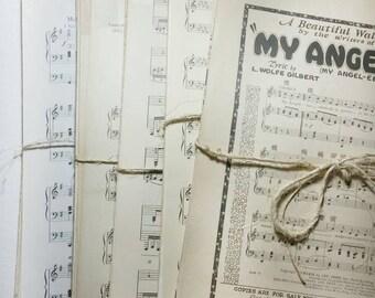 Sheet Music, Vintage Paper Bundle, Sheet Music Bundle, Old Music Sheets, Music Sheets, Paper Ephemera, Old Music Paper, Vintage Sheet Music,