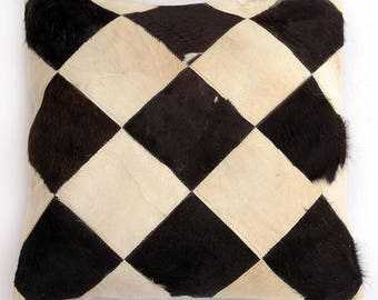 Natural Cowhide Luxurious Patchwork Hairon Cushion/pillow Cover (15''x 15'')a165