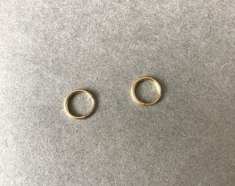 "Gold Filled Mini Tiny Circle Hoop Earrings- ""Gold Filled"""