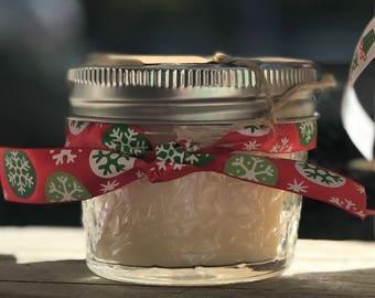 Christmas Gift Soy Candle 4 ounce Mason Jar Jelly Jar