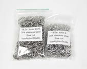 14.0x1.6mm, Stainless Steel Jump Rings, Saw Cut, Chainmaille Rings, Stainless Steel Jumprings, Chainmail Rings, Chain Maille Supplies