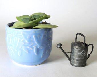 McCoy Small Butterfly Jardiniere Planter Matte Blue