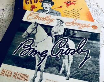 Hold for Lynn- Bing Crosby Albumn Record Collection Cowboy Songs Crosby Classics