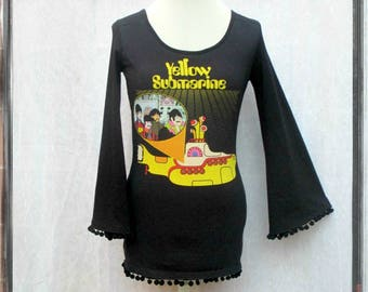 Beatles Yellow Submarine dress with bell sleeves