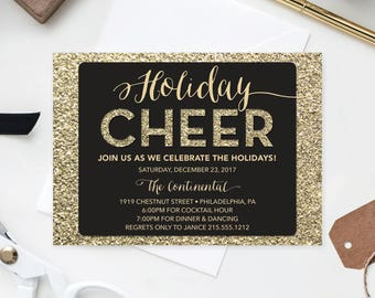 corporate holiday party invite christmas party invitation open house holiday corporate christmas - Corporate Holiday Party Invitations
