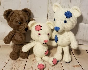 Patches & Marmalade Bear Crochet Pattern